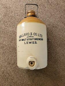 Vintage Stoneware Price Bristol Ballard & Co Stout Beer Demijohn Bottle Keg