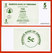 P34   ZIMBABWE / Simbabwe  5 Cents   2006 UNC