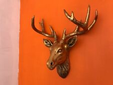 Gold Resin Deer Head  Antler Wall Mount Ornament Mantel Staging Home Decor