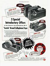 1953 ORIGINAL VINTAGE SCOTCH TAPE CELLOPHANE TAPE  MAGAZINE AD (E)