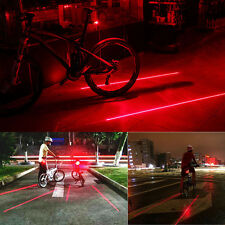 5 LED+2 Laser Cycling Bicycle Bike Rear Tail Warning Light Set for Your Safety
