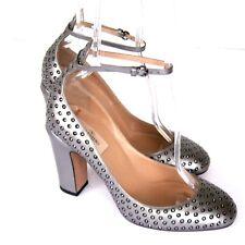 J-2875140 Valentino Garavani Silver Pumps Shoes Size US 8.5 Marked 38.5