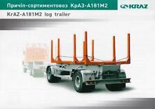 KRAZ A181M2 LOG TRAILER 2015 UKRAINIAN  TRAILER BROCHURE PROSPEKT
