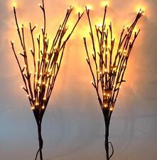"Two Sets 20"" Willow Branch Garden Home Interior Decor 120 LED Lights (2 x 60)"