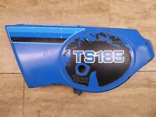 1980 Suzuki TS185 Dual Sport Left Side Cover Panel #47211-29900 Blue PL1025-BP4+