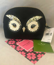 Kate Spade Star Bright Owl Small Marcy Cosmetic Case Pouch Clutch