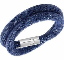 BNWT BOX & BAG GENUINE SWAROVSKI BLUE STARDUST DOUBLE BRACELET / CHOKER 5102557