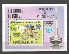 Jeux Olympiques d' été Tchad (52) bloc oblitéré