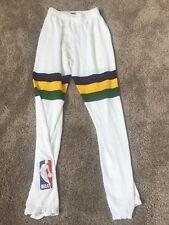 NBA MEDALIST SAND KNIT UTAH JAZZ ADRIAN DANTLEY GAME USED PANTS 34 UNIFORM #4
