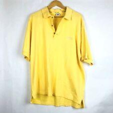 Columbia Mens Polo Shirt Size Medium Yellow Short Sleeve 100% Cotton