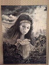 """'Mother Nature'--18 X 24"""" Original Signed Painting Native American Inspiration"""