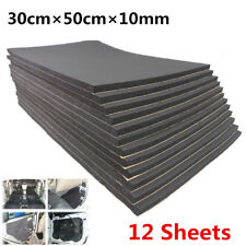 Universal 12 Pcs Car Sound Proofing Deadening Insulation Closed Cell Foam 10mm