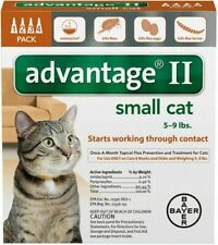 New listing Bayer Advantage Ii for Small Cats 5 - 9 Lbs - 4 Pack - Flea Treatment Control
