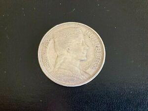 1932 PIECI 5 LATI Republic of Latvia LATVIJAS REPUBLIKA 83.5% Silver Coin Milda