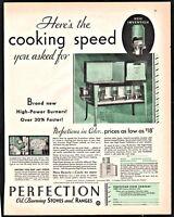 1929 PERFECTION Oil Stove Range Antique Vintage Kitchen Decor AD low as $18
