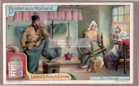 Dutch Women Spinning Yarn And Sewing Holland  PRETTY 1920s Trade Ad Card