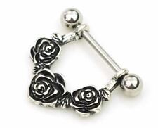 Nice flower U Shape Piercing Shield Bars Steel Nipple Piercing For Woman Men UK