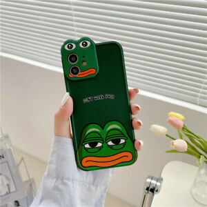 Cute Creative Cartoon Cry Frog Lens Phone Case For iPhone 12 11 Pro Max XS X 7 8