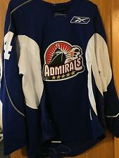 2008-09 AHL NORFOLK ADMIRALS WYATT SMITH SIGNED GAME USED PRACTICE HOCKEY JERSEY