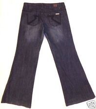 Rock Revolution Stretch denim blue jeans flare pants size 9 embroidered pockets