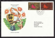 HONG KONG 1978 HORSE LUNAR NEW YEAR ILLUSTRATED FIRST DAY COVER (L264)