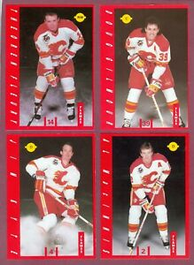 1991-92 IGA CALGARY FLAMES + MIX JERSEY AUTOGRAPH NHL HOCKEY CARD SEE LIST