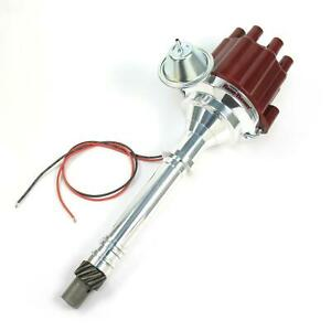 PerTronix D100701 SBC BBC Chevy 350 454 Flame-Thrower Distributor, Red Cap