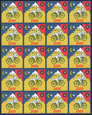 ALBERT HOFMANN 20 PANEL BLUE BIKE RIDE 2000 - QUALITY BLOTTER ART - 500 SQUARES