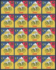 Albert Hofmann 20 Panel Azul Paseo en Bicicleta 2000-calidad De Arte Papel Secante - 500 plazas