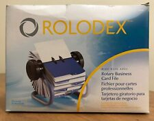 Rolodex Open Rotary Business Card File With 200 2 58 By 4 Inch Card Sleeves New