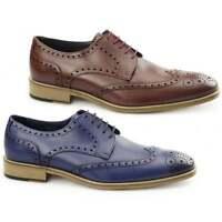 Carvelos SEVILLE Mens Leather Smart Formal Comfort Dress Derby Brogue Shoes