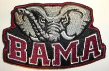 """Alabama Crimson Tide Embroidered PATCH~3 1/8"""" x 2""""~Iron Sew On~FREE Shipping"""