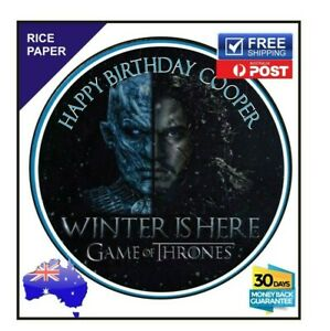 Game of Thrones Edible Rice Paper Birthday Cake Decoration Topper Image 19cm