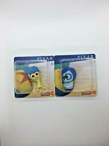 Disney Pixar Minis 2.5cm Mini Figures, Inside Out Joy & Sadness Brand New