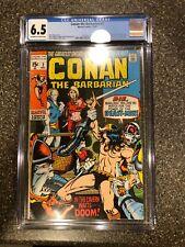 Conan the Barbarian #2 CGC 6.5 12/1970  In the Cavern Waits...DOOM!  FREE SHIP