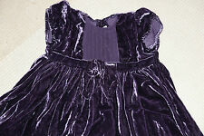 Mamas and Papas Baby girl lovely Purple velour dress 18 - 24 months