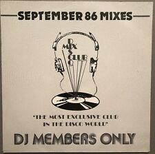 SEPTEMBER 86 MIXES DISCO MIX CLUB DMC DJ MEMBERS ONLY UK VINYL