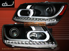 09-15 DODGE JOURNEY PROJECTOR w / LED PLANK STYLE HEADLIGHTS BLACK CLEAR AMBER