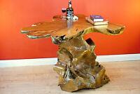 Wurzelholz Tisch Esstisch Teak Massivholz Esszimmer Holztisch Baumkante groß neu