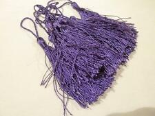 10 SILKY TASSELS - 13cms - PURPLE - For Card Making, Wedding Favours etc.