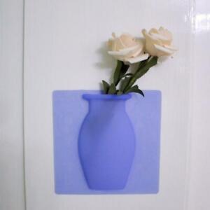 2* Magic Silicone Vase DIY Sticker No Trace No Hole Wall Sticker Vase Decoration