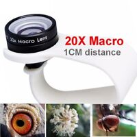 Mobile Phone Macro Lenses 20x Wide-angle Cellphone iPone Huawei Xiaomi Samsung