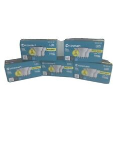 Lot of 5 Packages EcoSmart 50W LED Light Bulb GU10 Dimmable (Each pkg has 3 )
