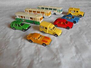 Vintage Majorette collection 2cv post datsun Neoplan buses golf toyota 1980s