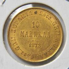 FINLAND, Russian Empire 1878-S gold 10 MARKKAA; attractive AU