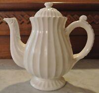 Domestications Athena American Atelier Ironstone White Coffee Pot