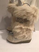 TECNICA Yeti Italian Fur Boots with Sherpa Lining  White 5