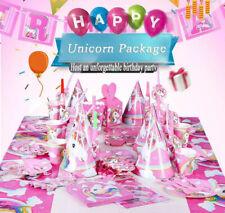 UNICORN KIDS GIRLS BIRTHDAY CELEBRATION PARTY FULL SET DECORATIONS DISPOSABLE