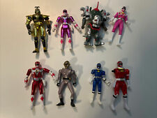 Lot 8 vintage Mighty Morphin Power Rangers + others Figures Bandai 90's