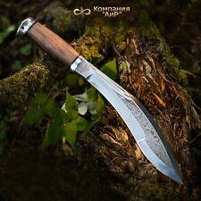 Zlatoust A&R Dzhungly (Jungle) machete 50X14MF steel Walnut handle